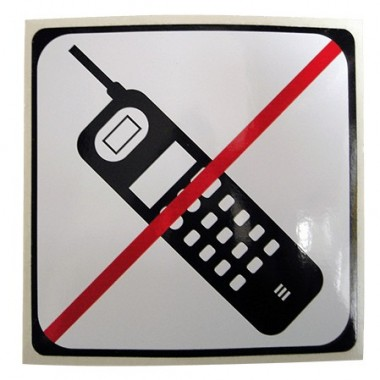 Symbole portable interdit