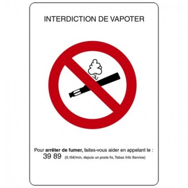 Symbole Interdiction de vapoter