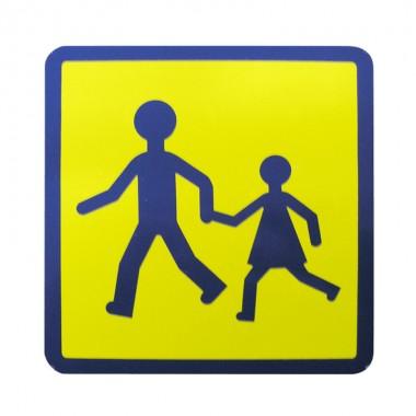 Plaque transport d'enfants adhésive
