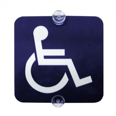 Plaque transport d'handicapés