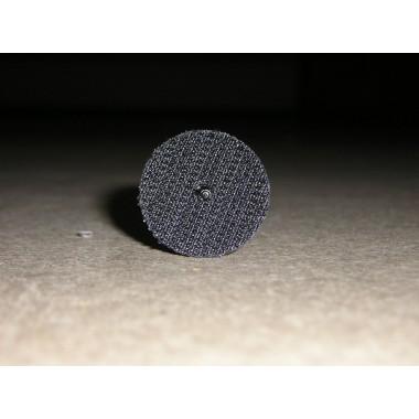 Pastille crochet noir Diam.25